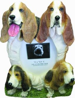 Basset Hound Picture Frame Holds Your Favorite 4 x 6 Inch Ph