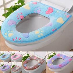 Bathroom   Warmer Toilet Seat Cloth Soft Closestool Washable