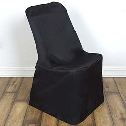 Efavormart Black Lifetime Folding Chair Cover--PACK OF 5