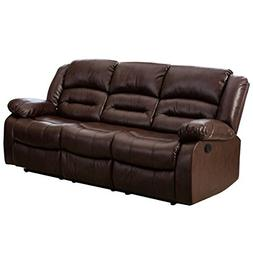 Giantex 3Pc Black Motion Sofa Loveseat Recliner Set Living R