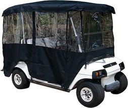 Black Rain Cover Enclosure for Golf Cart W Back Seat Extende