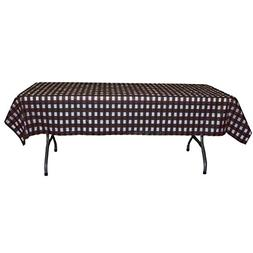 Black and White Checkerboard Plastic Disposable Table Cover