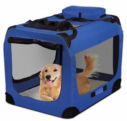 OxGord Blue Pet Soft Cloth Crate - 2XL
