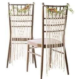 Ling's moment Bohemian Bride and Groom Chair Back, Wedding C