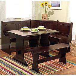 Target Marketing Systems 3 Piece Breakfast Nook Dining Set w