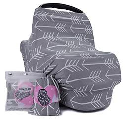Breastfeeding Nursing Baby Car Seat Cover Girls And Boys Sof