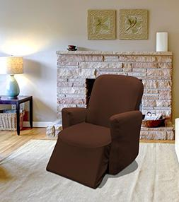 Kashi Home Jersey Recliner Slipcover Chocolate