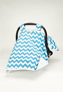 Canopy Turquoise Chevron Car Seat Cover  #1 Car Seat Covers