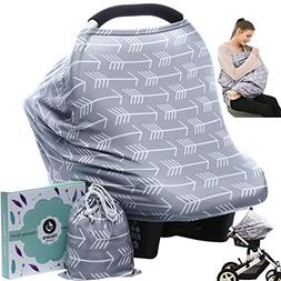 Baby Car Seat Cover canopy nursing and breastfeeding cover(g