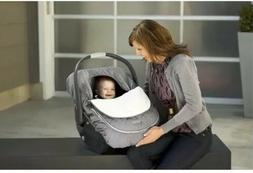 JJ Cole Car Seat Cover for Infants w/ Removable Top Graphite