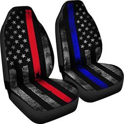 Muggalicious Car Seat Cover Set with Thin Blue and Red Line