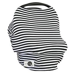 JLIKA Baby Car Seat Covers Stretchy Infant Canopy and Nursin