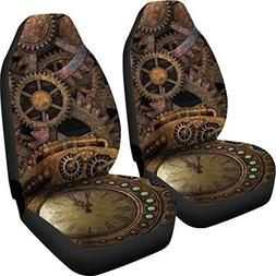 Muggalicious Car Seat Covers with Retro Steampunk Gear and C