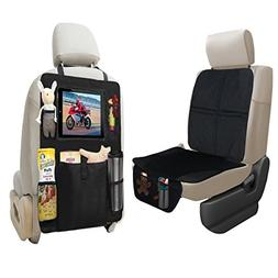 lebogner Car Seat Protector + Backseat Organizer with iPad a