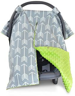 Premium Carseat Canopy Cover and Nursing Cover- Large Arrow