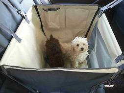 Dog/Cat Car Carrier Seat Cover Playpen-2 Storage Pouches-See
