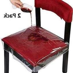 Homemaxs Chair Protector Waterproof PVC Dining Chair Covers