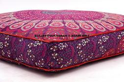 Child's Floor Lounger Seats and Pillow Cover Peacock Mandala