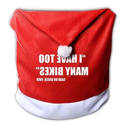 7--PENG SIYAO Christmas Chair Covers I Have Too Many Bicycle