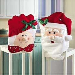 GIM Christmas Kitchen Chair Slip Covers Featuring Mr & Mrs S