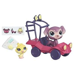 Littlest Pet Shop City Rides  Labrador and Duckling Buggy
