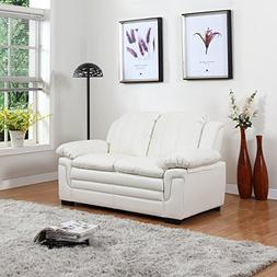 Divano Roma Classic Bonded Leather Sofa and Loveseat Living