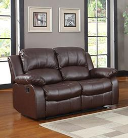 Classic and Traditional Brown Bonded Leather Recliner Chair,
