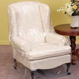 """Clear Vinyl Furniture Protector - Chair / Recliner Cover 36"""""""
