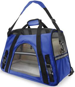 OxGord Large Comfort Carrier Soft-Sided Pet Carrier , Royal
