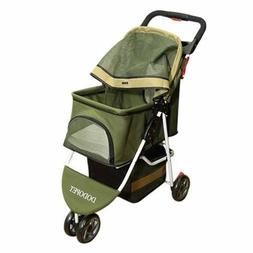 Comz ST-029 Deluxe Folding Three Wheel Pet Carrier Stroller