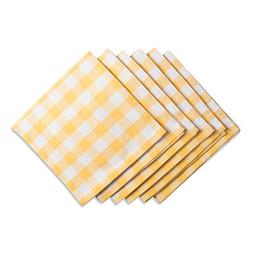 """DII Oversized 20x20"""" Cotton Napkin, Pack of 6, Yellow & Whit"""