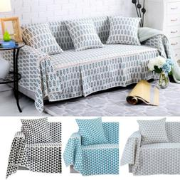 Cotton Blend Slipcover Chair Couch Sofa Cover Seat Protector