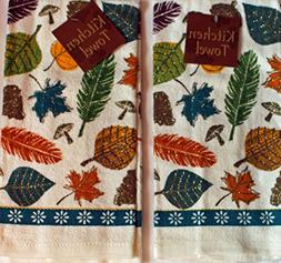 Nantucket Home 100% Cotton Printed Glitter Fall Themed Kitch