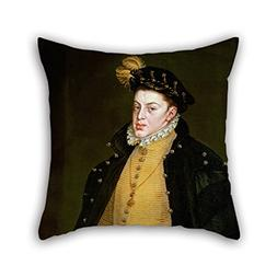 Cushion Covers Of Oil Painting Alonso S???nchez Coello - Inf