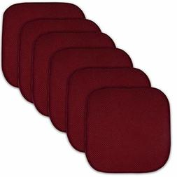 "Cushion Memory Foam Chair Pads Nonslip Back Seat Cover 16"" x"