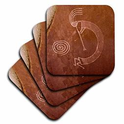 3D Rose Pictographs of The Pueblo Indians - Native American