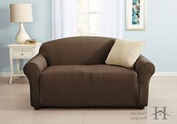 Darla Collection Platinum Strapless Slipcover. Form Fit, Sli
