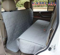 Deluxe Quilted Padded SUV Car Seat Cover For Dog Pet Extra L