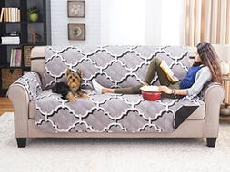 Deluxe Reversible Sofa Furniture Protector, ODYSSEY GREY / B