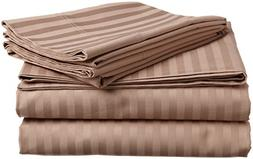 Deluxivity --100% Egyptian Cotton Cozy Bed Sheet Set  in Str