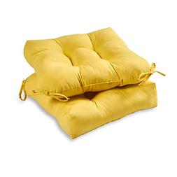 Outdoor Dining Chair Cushion , Sunbeam Yellow