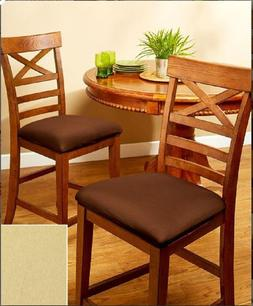 Dining Chair Seat Covers Set of 2 also Fits Bar Stool Seat C