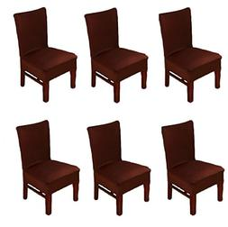 6 X Dinning Room Chair Seat Covers Spandex/Fabric, Moonter S