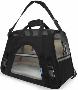 Paws & Pals Airline Approved Pet Carriers w/ Fleece Bed For