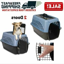 Dog Crate Two Door Top Load Cat Pet Travel Carrier Cage Hous