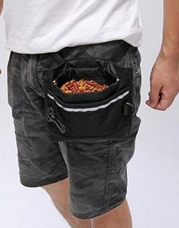 ASIBT Dog Treat Pouch, Pet Training Waist Bag with Easy Open