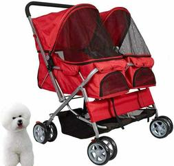 Double Decker Pet Stroller Lightweight Foldable 2 Small Dog