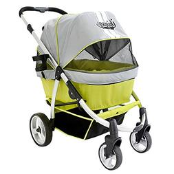 ibiyaya Double Dog Stroller for Large Dogs up to 77 Ibs, Alu