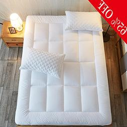 Shilucheng Mattress Pad Queen Size Cover - 8-21 inch Deep Po