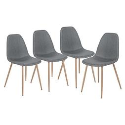 Merax PP035967EAA Eames Style Fabric Dining Chairs , Grey